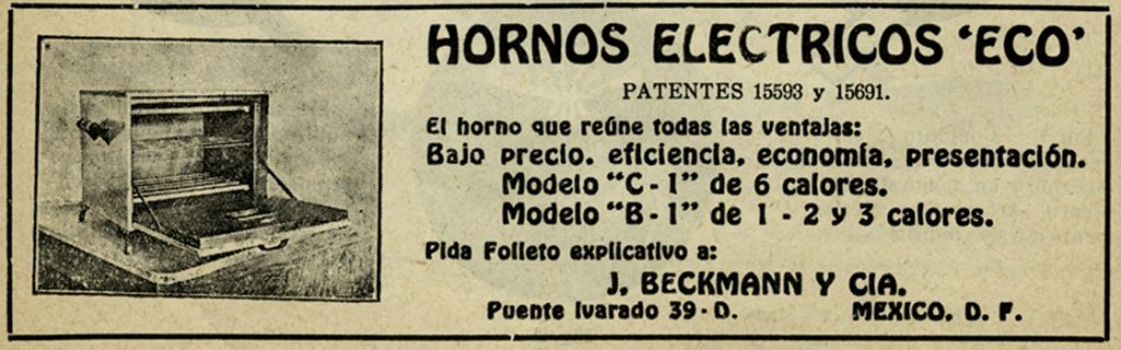 "Horno eléctrico ""Ideal"". Viñeta, Biblioteca de la Fototeca Lorenzo Becerril A.C."