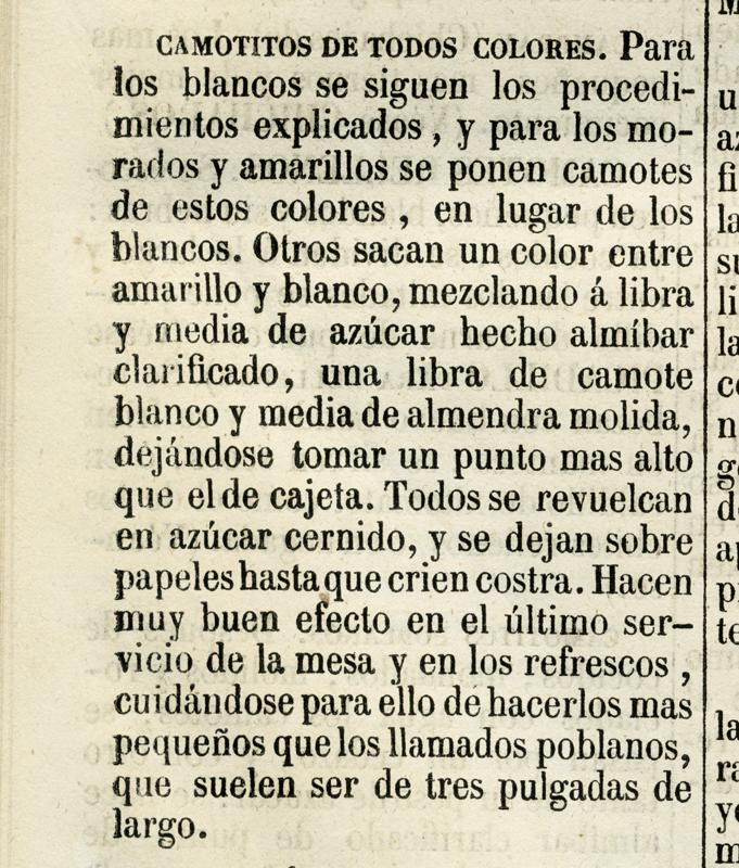 Receta en el Nuevo Cocinero Mejicano, 1888. Biblioteca de la Fototeca Lorenzo Becerril A.C.