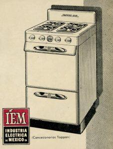 Cuando en 1968 nos casamos, adquirimos una estufa IEM Tappan de este modelo. Viñeta, Fototeca Lorenzo Becerril A.C.