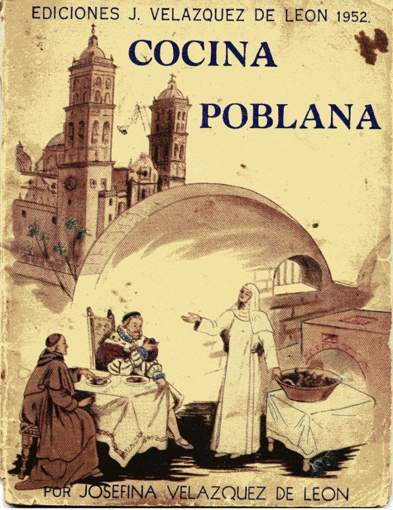 """""""Cocina Poblana"""", Josefina Velázquez de León, México, 1952. Biblioteca de Cristina Barros y Marco Buenrostro."""