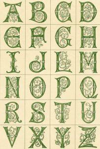 24 letras del abecedario. Viñeta de la Biblioteca de la Fototeca Lorenzo Becerril A.C.