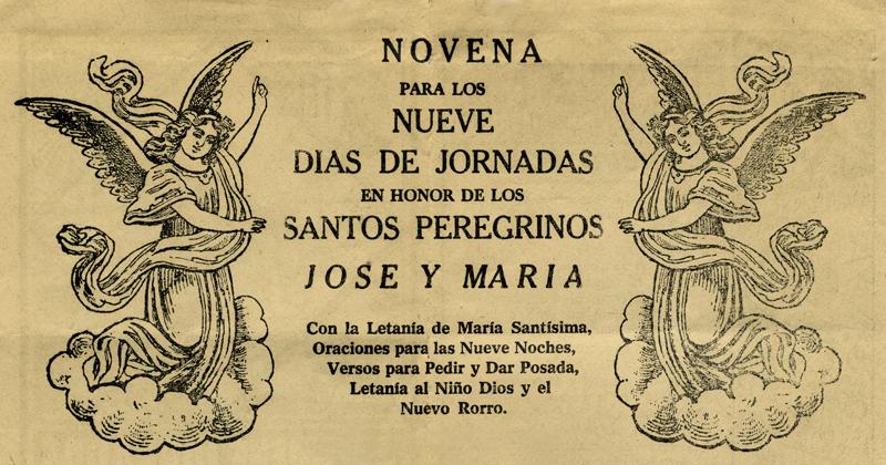 """1880, """"Las nueve jornadas de los Santos Peregrinos"""", Editor A. V. Arroyo, México. Centro de Documentación Fototeca Lorenzo Becerril A.C."""