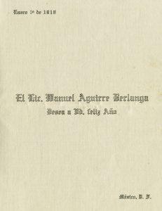 1918, Manuel Aguirre Berlanga. Centro de Documentación Fototeca Lorenzo Becerril A.C.