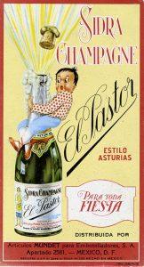 "Sidra Champagne ""El Pastor"" estilo Asturias. Viñeta, Centro de Documentación Fototeca Lorenzo Becerril A.C."