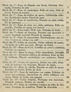 """Libro """"Un menú para cada día del mes"""" Gómez Gómez Hnos. Editores, México, 1983. Biblioteca Fototeca Lorenzo Becerril A.C."""