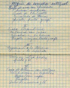 """Manuscrito """"Cuaderno de Economía Domestica"""" de Rosaura N., año de 1936. Centro de Documentación Fototeca Lorenzo Becerril A.C."""