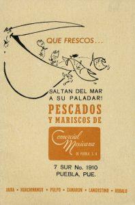 Pescados y Mariscos de Comercial Mexicana, Qué frescos… saltan del mar a su paladar. Biblioteca de la Fototeca Lorenzo Becerril A.C.