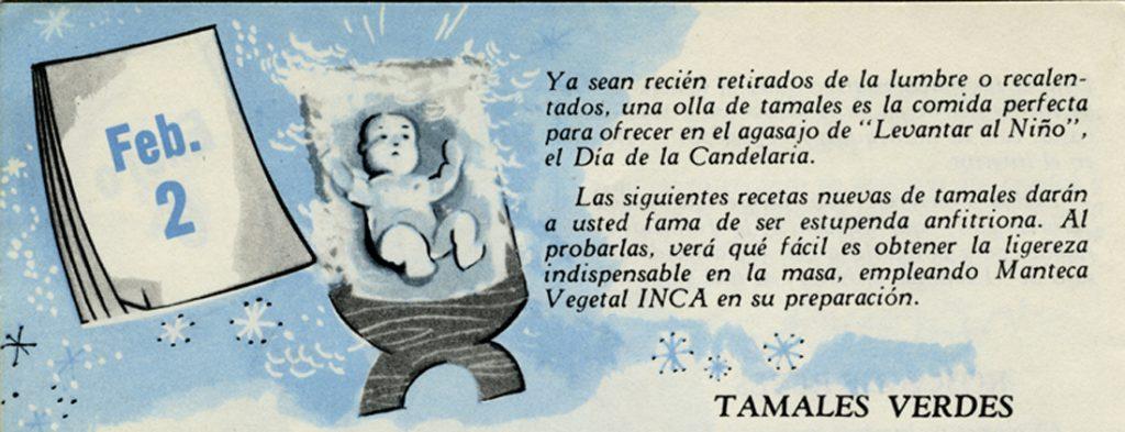 Promocional de la Manteca Vegetal INCA. Viñeta, Centro de Documentación Fototeca Lorenzo Becerril A.C.