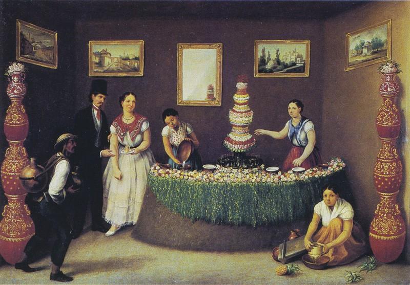 """La vendedora de aguas frescas"" Agustín Arrieta, ca. 1850."