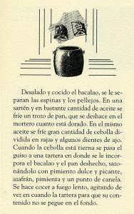 """Receta, libro """"36 maneras de guisar el bacalao"""", Manuel María Puga y Parga. Biblioteca de la Fototeca Lorenzo Becerril A.C."""