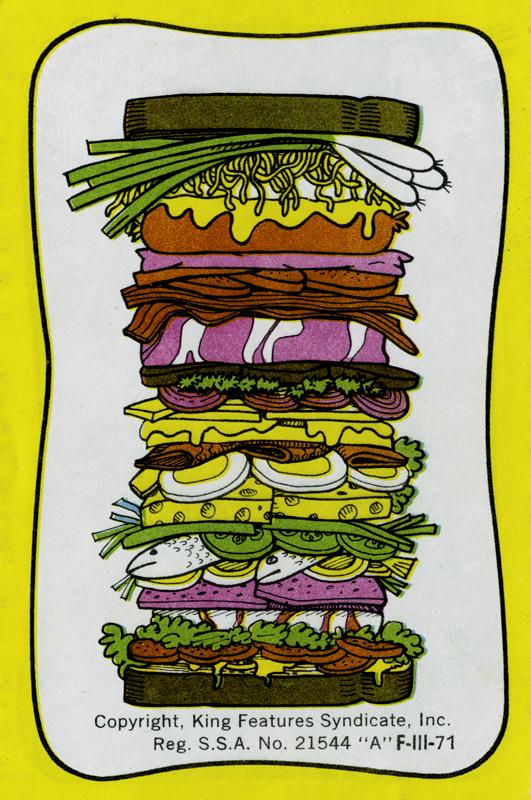 Recetario ¡Sandwiches de Lorenzo¡, 12 páginas, 12 recetas, King Features Syndicate, Inc, USA, s/f. Biblioteca de la Fototeca Lorenzo Becerril A.C.