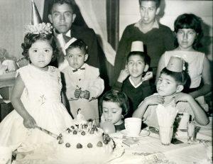 Cumpleaños de Conchis, tres años. Fototeca Lorenzo Becerril A.C.