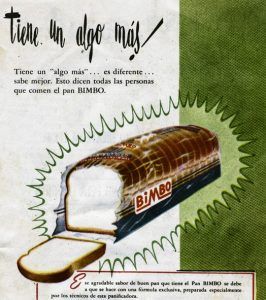 Bimbo tiene algo más!, publicidad Bimbo, viñeta. Centro de documentación Fototeca Lorenzo Becerril A.C.