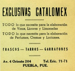 Viñeta frascos, tarros y garrafones. Centro de Documentación Fototeca Lorenzo Becerril A.C.