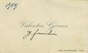 1909, Valentín Gómez. Centro de Documentación Fototeca Lorenzo Becerril A.C.