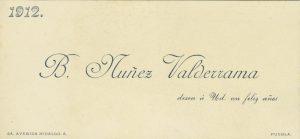 1912, B. Núñez Valderrama, Puebla. Centro de Documentación Fototeca Lorenzo Becerril A.C.