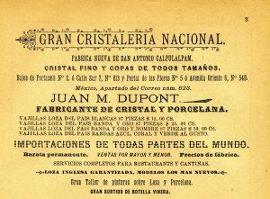 """Anuncio en la """"Agenda para la Familia"""" editada en Puebla por Carlos V. Toussaint."""
