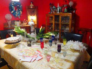 Casa de Familia Martínez Martínez, comedor, cena de fin de año 2013. Fotógrafa Lilia Martínez.
