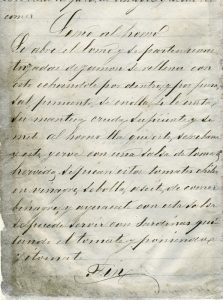 Lomo al horno, recetario manuscrito, autor desconocido. Biblioteca Fototeca Lorenzo Becerril A.C.