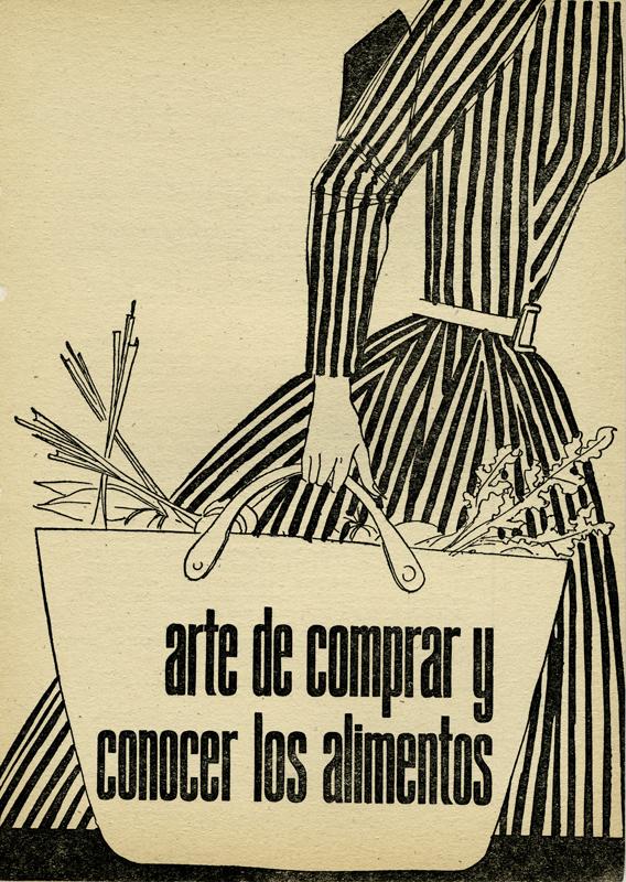 """Viñeta del libro """"Arte de comprar y conocer los alimentos"""", G. Bernard de Ferrer, Editorial Molino, España, 1961. Biblioteca de la Fototeca Lorenzo Becerril A.C."""