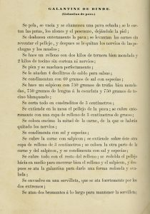 """Galantina de Pavo"", receta de ""El libro de cocina"" de Jules Gouffé. Biblioteca de la Fototeca Lorenzo Becerril A.C."