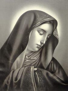 Virgen de los Dolores, autor desconocido, litografía. Centro de documentación de la Fototeca Lorenzo Becerril A.C