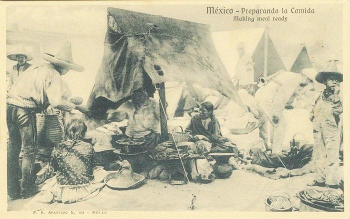 Preparando la comida. F.K., Fototeca Lorenzo Becerril A.C.