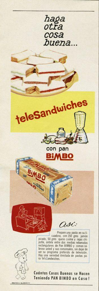 Bimbo haga otra cosa buena, publicidad Bimbo, viñeta. Centro de documentación Fototeca Lorenzo Becerril A.C.