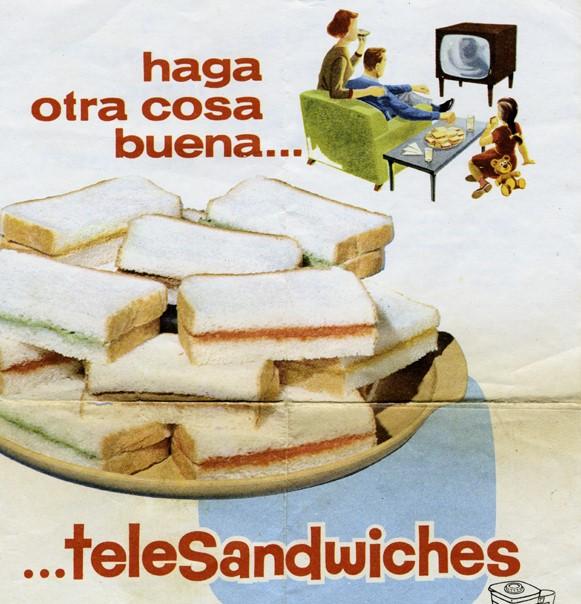 TeleSandwchis, publicidad Bimbo, viñeta. Centro de documentación Fototeca Lorenzo Becerril A.C.