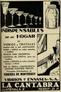 Viñeta vidrios y envases. Centro de Documentación Fototeca Lorenzo Becerril A.C.