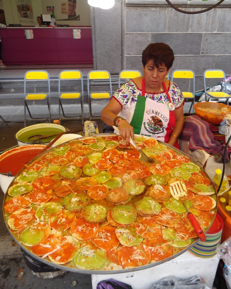 Chalupas en el Zócalo, 2016. Fotógrafa Lilia Martínez